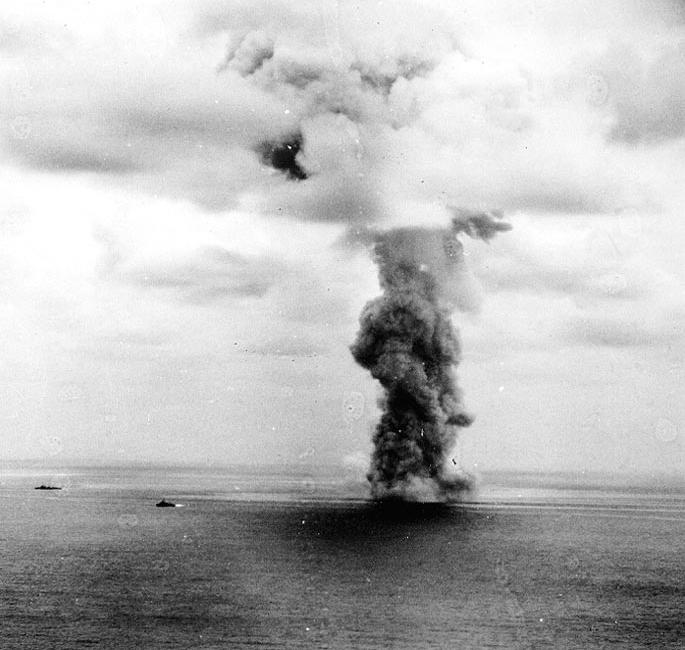 戦艦大和沈没の瞬間